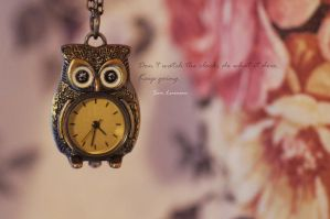 owl clock by 97lessi