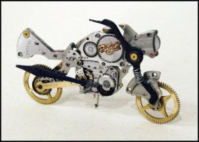 Handmade Steampunk Motorcycle - new model by lollollol2