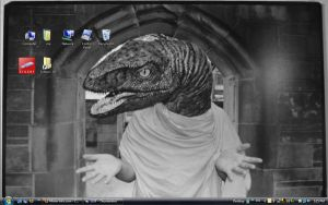 raptor jesus desktop by chaimonkey