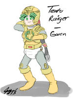 Gwen as Tento Raiger by JayManney4Life