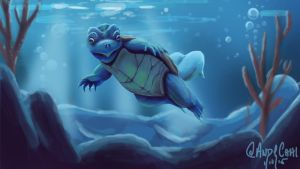 Realistic Squirtle by andychhi