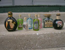 New bottles set by AmberStoneArt