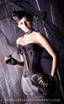 Black Steampunk Corset 02 by antiquecameo
