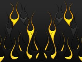 Flames - Black and Gold by jbensch