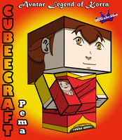 3D Cubeecraft of Pema and Rohan Legend of Korra by SKGaleana