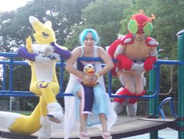 Digimon and one piece by titanstargirl