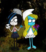 Vexy and Smurfette by Little-Horrorz