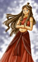 Katara in the Fire Nation by snowp