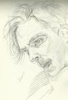 John Harrison angry sketch by SheenaBeresford