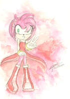 Amy in watercolour by GioMeloRizzutti