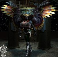 Armored Hawkgirl-BE by Chup-at-Cabra