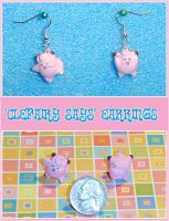 Pokemon Clefairy Says Earrings by YellerCrakka