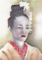 Blue-eyed Geisha by judyeve
