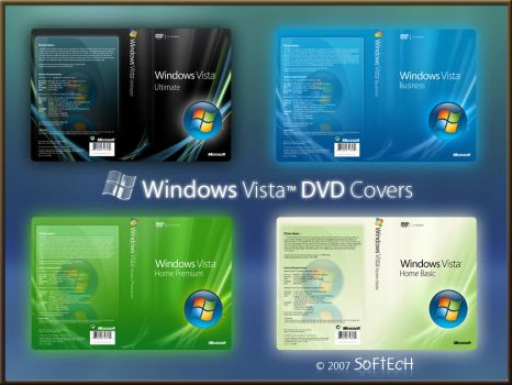 Windows Vista DVD Covers by sahtel08