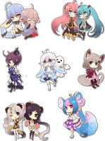 Paperdoll Chibis Batch2 by Rinslettuce