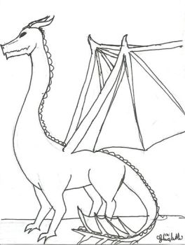 dragon coloring page by ghizlaneali