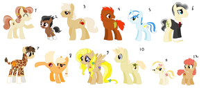 My Little Pony Adopts Set 1 by Kiwiis