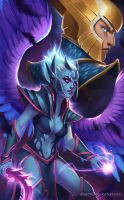 Vengeful Spirit and Skywrath by Aviastha