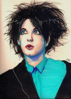 Without you.. Robert Smith Portrait by TOYspence