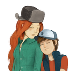 Wendy and Dipper by markmak