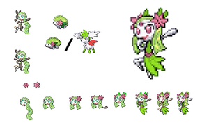Meloetta and Shaymin by Beastiarex
