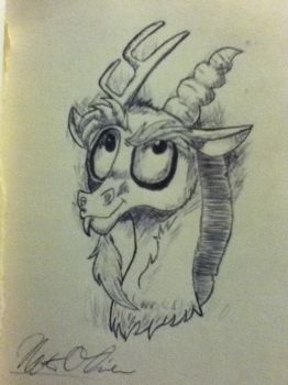Discord Pen-Sketch by Bron3Gamer