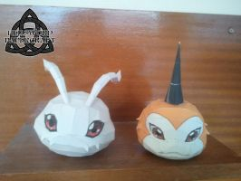 Digimon Koromon And Tsunomon Papercrafts by HellswordPapercraft