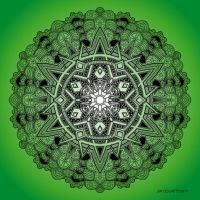 Mandala drawing 30 GREEN by Mandala-Jim