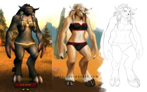 Female Tauren by XeiArt