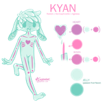 Kyan Reference Sheet by geheichous