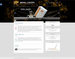 Pearl Crown website by red-maupa