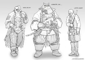 Character designs: the captains by ortsmor