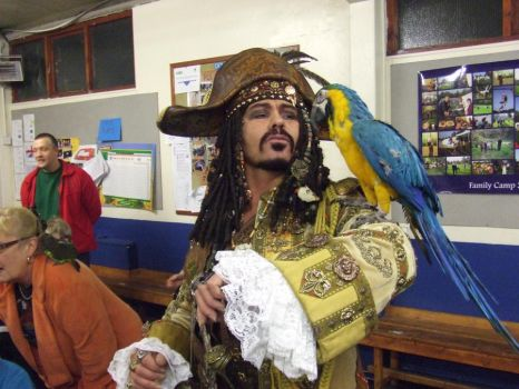 Pirate + real parrot from POTC by overlord-costume-art