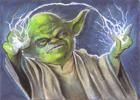Sketchcard:StarWars: yoda by GraphicGeek