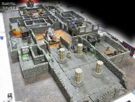 Dungeon setting for my Epic DnD table by RebisDungeon