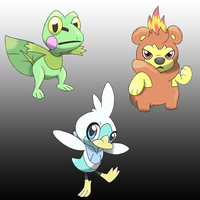 Starters -Sugimori Artwork- by D-Fake