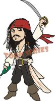 Captain Jack Sparrow by toonseries