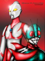 Ultraman Vs. Kamen Rider by BeastKnight01