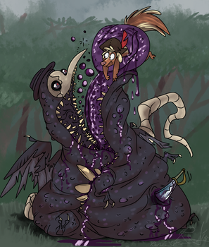 Sludge and plague and everything vague by Ribbedebie