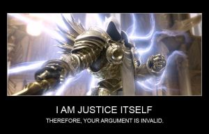 Tyrael - Your argument is invalid. by Farael-Hikari
