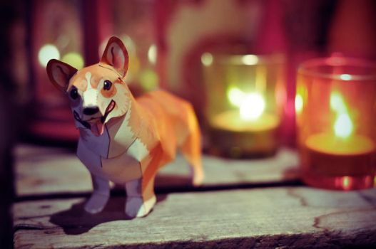 Corgi Papertoy. by chocolateXtherapy