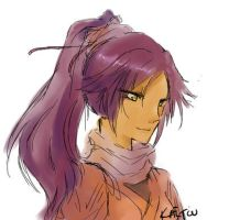 yoruichi doodle by KaitouCoon