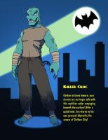 Batman 1966 - Killer Croc by SeriojaInc