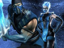 The Lin Kuei master and pupil by TheLinKueiNinja