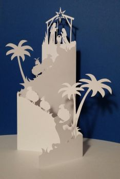 Christmas scene papercut by Alessandro-Ole