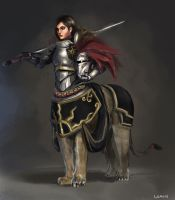 Liontaur Knight by L3monJuic3