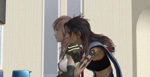 FFXIII- A Typical Morning: Fang x Lightning by Wellsy71