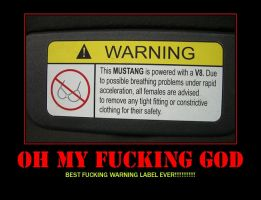 BEST FUCKING WARNING SIGN EVER by f-bomb101