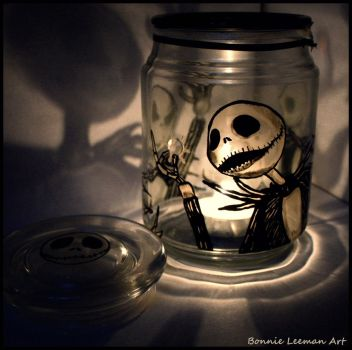 Snowflake Jack Skellington Candle Holder by Bonniemarie