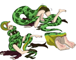 Alois Trancy Vore: The Snake and the Spider 2 by FreddyKreugerKen